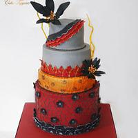 Pashtun dress cake design