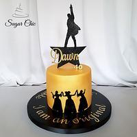 x Hamilton the Musical Birthday Cake x