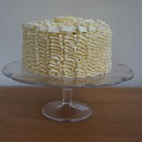 My First Buttercream Ruffle Cake  by Let's Eat Cake