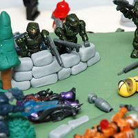My Son's Battle Scene Cake