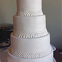 Buttercream dot cake by manda