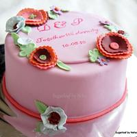 Boho Floral applique work cake