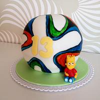 Soccer ball with Bart