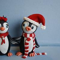 Fondant Penguins.