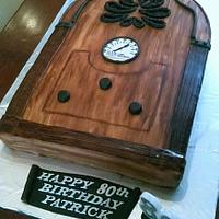 antique radio cake