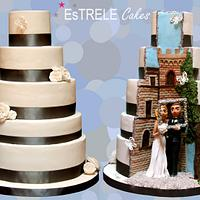 Double sided wedding cake