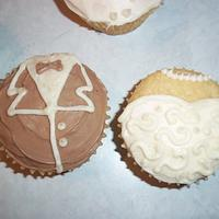 Wedding Cupcakes by cakes by khandra