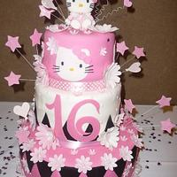 Hello Kitty Sweet 16 Cake