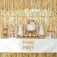 Gold sweet table for golden party ))