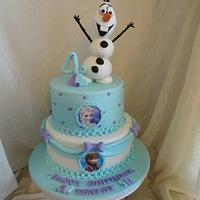 Olaf and Frozen themed Cake