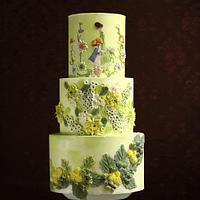 FLORAL ADORNMENT CAKE