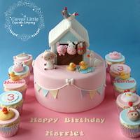 Girlie Barn Cake (Take 2!!)
