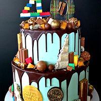 40th Birthday Chocolate Drip Cake