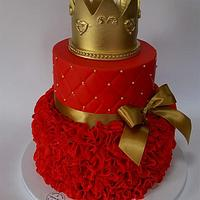 Red Cake for 18th birthday