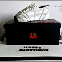 My first carved trainer cake