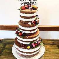Naked wed cake