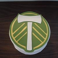 Oregon Timbers soccer team by Karen Seeley