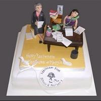 School office cake & topper by Alisonarty
