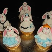 It's Just A Yummy Job....... Working Bunny Easter Cupcakes