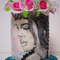 Pencilsketch themed cake