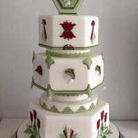 Art Deco Weddingcake