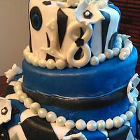 18th birthday cake topsy turvy