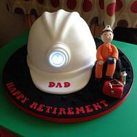 A coal miners retirement  by Donnajanecakes