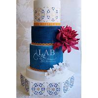 "Pakistan Wedding cake for Pakistan Collaboration ""Spectacular Pakistan an international sugar art"