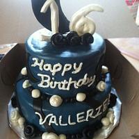 Crescent Moon Birthday Cake by Michelle Allen