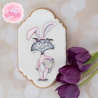 Grumpy Bunny Cat 🐰🐣