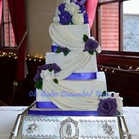 Drapes and Purple Roses