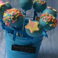 Bubblegum & Vanilla Cakepops by Priscilla's Cakes