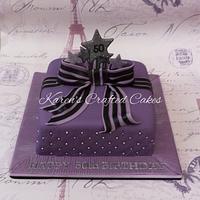 Purple Parcel Cake