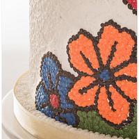Buttercream Wedding Cake by Olivia's Bakery