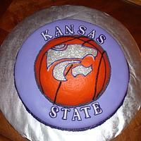 K-State Basketball Cake by naughtyandnicecakes