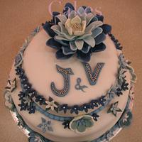 J&V Wedding Cake