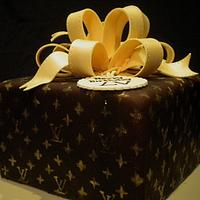 Louis Vuitton Gift Box Cake