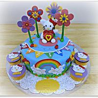 Rainbow Hello Kitty Cake
