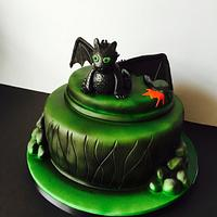 Toothless Dragon - How to Train Your Dragon by Broadie Bakes