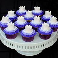 Ombre Ruffle Princess Cupcakes