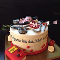 Celebration cake for medical doctors