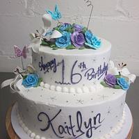 Sweet 16 Butterflies & Roses