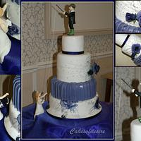 Roses Wedding Cake by cakesofdesire