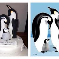 Penguin family by Symphony in Sugar