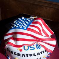 Retirement Cake for Navy Officer by Margarida Myers