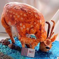 3D deer cake