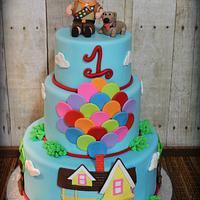 Up themed birthday cake