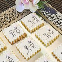 """""""I  do"""" engagement announcement cookies"""