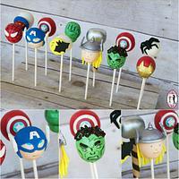 Avengers cake pops