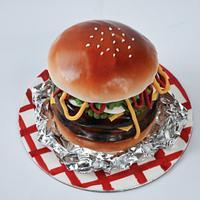 Burger cake!